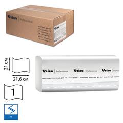 Полотенца бумажные 250 шт., VEIRO (Система H3/<wbr/>F1), комплект 15 шт., Comfort, белые, 21×21,6, V, KV210