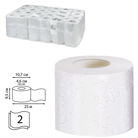 Бумага туалетная 25 м, VEIRO Professional Premium, Система T4), комплект 48 шт., 2-слойная, T308
