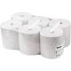 Полотенца бумажные рулонные VEIRO Professional (A1/<wbr/>A2), комплект 6 шт., Basic, 180 м, белые, диспенсер 601657, -658