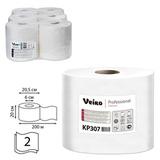 Полотенца бумажные с центральной вытяжкой VEIRO Professional (C1), комплект 6 шт., Premium, 200 м, 2-х слойные, белые