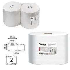 Бумага протирочная VEIRO (Система W1/<wbr/>W2), комплект 2 шт., 800 л./<wbr/>рулон, 24×35 см, 2-слойная, Premium, W304