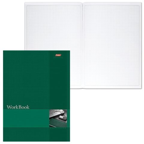 Книга учета, 96 л., А4, 210×285 мм, HATBER, блок сшито-клеенный, тиснененая, клетка,«Зелёная»