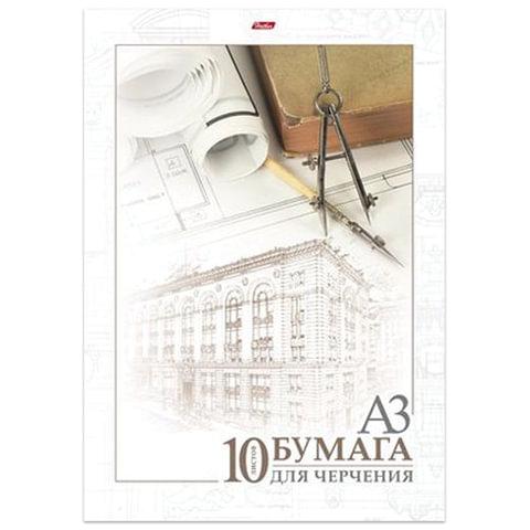 Папка для черчения HATBER, А3, 295×420 мм, 10 л., без рамки, 190 г/<wbr/>м<sup>2</sup>, «Архитектура»