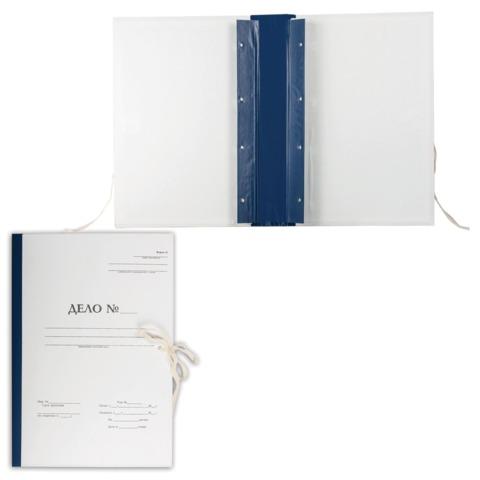 """Папка архивная для переплета """"Форма 21"""", 50 мм, с гребешками, 4 отверстия, 2 х/б завязки"""