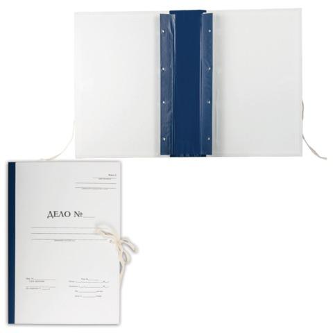 """Папка архивная для переплета """"Форма 21"""", 70 мм, с гребешками, 4 отверстия, 2 х/б завязки"""