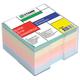 Блок для записей СТАММ в подставке прозрачной, куб 8×8×5, цветной