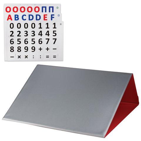 Касса букв и цифр, 35×40 см, русский и английский алфавит, магнитная, красная, ДПС