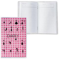 Ежедневник недатированный, А6, 101×160 мм, 50 л., с шариковой ручкой, прозрачная обложка ПВХ, «Cats», ДПС
