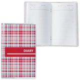 Ежедневник недатированный, А6, 101×160 мм, 50 л., с шариковой ручкой, прозрачная обложка ПВХ, «Клетка», ДПС