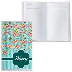 Ежедневник недатированный, А6, 101×160 мм, 50 л., с шариковой ручкой, прозрачная обложка ПВХ, «Листья», ДПС