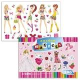 Альбом наклеек, А4, 12 л., HATBER, 400 наклеек, «Для девочек», 12Ан4 12638