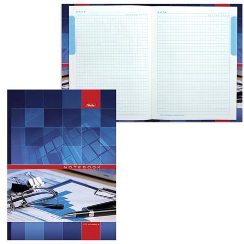Блокнот 7БЦ, А4, 120 л., обложка ламинированная, 5-цветный блок, HATBER, «Офис», 205×290 мм, 120ББ4В1 14356