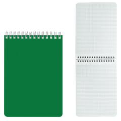 Блокнот А5, 60 л., гребень, лакированная обложка, HATBER, «Зелёный», 145×212 мм, 60Б5В1гр 12535
