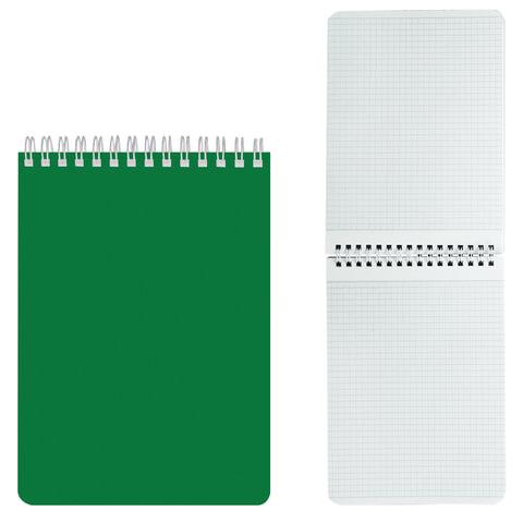 """Блокнот А5, 60 л., гребень, лакированная обложка, HATBER, """"Зелёный"""", 145х212 мм, 60Б5В1гр 12535"""