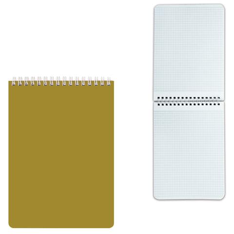 Блокнот А5, 60 л., гребень, лакированная обложка, HATBER, «Золото», 145×212 мм