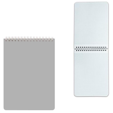 Блокнот А5, 60 л., гребень, лакированная обложка, HATBER, «Серебро», 145×212 мм