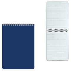 Блокнот А5, 60 л., гребень, лакированная обложка, HATBER, «Синий», 145×212 мм, 60Б5В1гр 12534