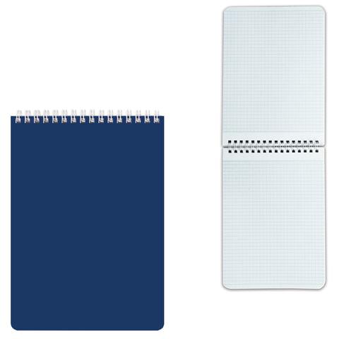 Блокнот А5, 60 л., гребень, лакированная обложкка, HATBER, «Синий», 145×212 мм, 60Б5В1гр 12534