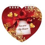 Блокнот А6, 60 л., гребень, фигурная высечка, HATBER, «Ты мое сердечко …», 60Б6Агр 14459