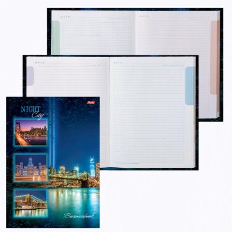 Блокнот 7БЦ, А4, 120 л., обложка ламинированная, 5-цветный блок, HATBER, «Ночной город», 120ББ4B1 12523