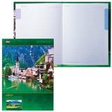 Блокнот 7БЦ, А4, 120 л., обложка ламинированная, 5-цветный блок, HATBER, «Яркие краски Европы», 120ББ4В1 13727