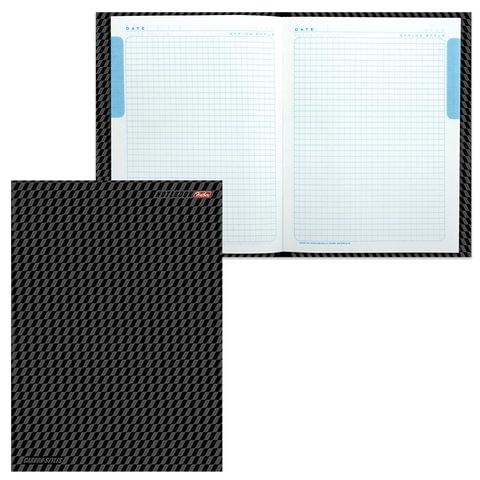 Блокнот 7БЦ, А4, 80 л., выборочный лак, 5-цветный блок, HATBER, «Carbon Style», 80ББ4влВ1 14359