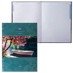 Блокнот 7БЦ, А4, 80 л., выборочный лак, 5-цветный блок, HATBER, «Красота тишины», 80ББ4влВ1 14226