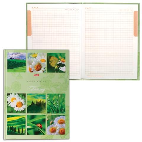 Блокнот 7БЦ, А4, 80 л., выборочный лак, 5-цветный блок, HATBER, «Ромашковое настроение», 80ББ4влВ1 14357