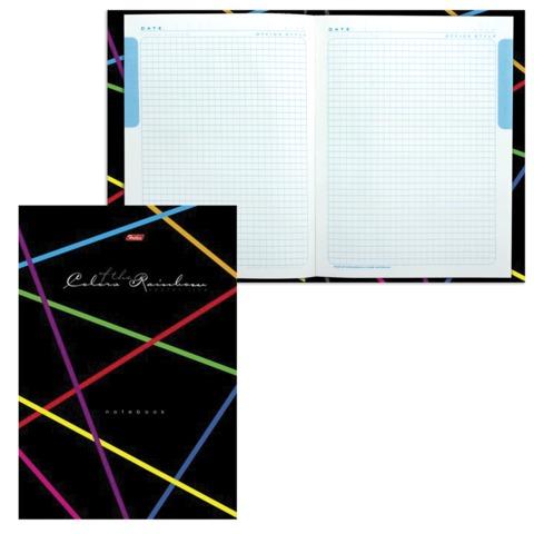 Блокнот 7БЦ, А4, 80 л., обложка ламинированная, 5-цветный блок, HATBER, «Rainbow»