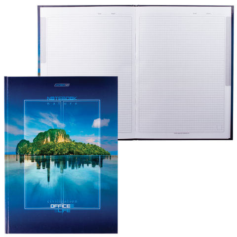 """Блокнот 7БЦ, А4, 80 л., обложка ламинированная, HATBER HD, """"Отражение"""", 80ББ4A1 12793"""