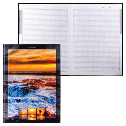 Блокнот 7БЦ, А4, 80 л., обложка ламинированная, HATBER HD, «Прекрасный закат»