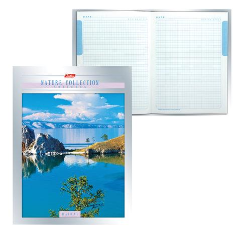 Блокнот 7БЦ, А5, 80 л., металлик, 5-цветный блок, HATBER, «Nature Collection»