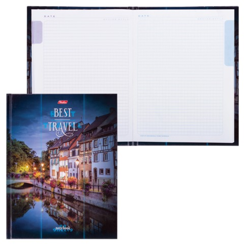 Блокнот 7БЦ, А5, 80 л., обложка ламинированная, 5-цветный блок, HATBER, «Best Travel»