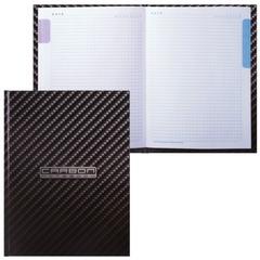 Блокнот 7БЦ, А5, 80 л., обложка ламинированная, 5-цветный блок, HATBER, «Carbon Style», 80ББ5В1 14359