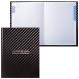 Блокнот 7БЦ, А5, 80 л., обложка ламинированная, 5-цветный блок, HATBER, «Carbon Style»