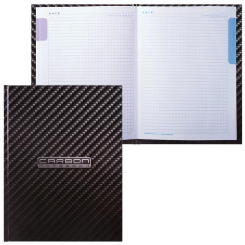 """Блокнот 7БЦ, А5, 80 л., обложка ламинированная, 5-цветный блок, HATBER, """"Carbon Style"""", 80ББ5В1 14359"""