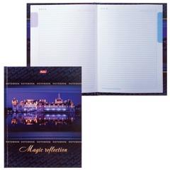 Блокнот 7БЦ, А5, 80 л., обложка ламинированная, 5-цветный блок, HATBER, «Отражение», 80ББ5В1 08942