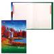 Блокнот 7БЦ, А5, 80 л., обложка ламинированная, 5-цветный блок, HATBER, «Поэзия осени»