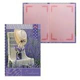 Блокнот 7БЦ, А5, 80 л., обложка ламинированная, тонированный блок, HATBER, «ВАНИЛЬ — Лаванда», 80ББ5В5 14277