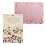 Блокнот 7БЦ, А5, 80 л., обложка ламинированная, тонированный блок, HATBER, «ВАНИЛЬ — Розовый сад»