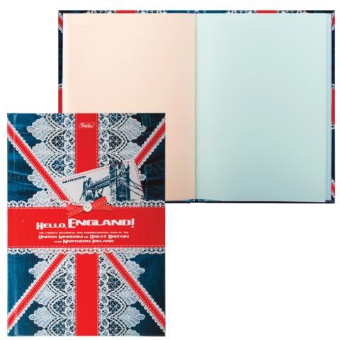 Блокнот 7БЦ, А5, 96 л., обложка ламинированная, тонированный блок, HATBER, «Hello, England!», 96ББ5B 12790