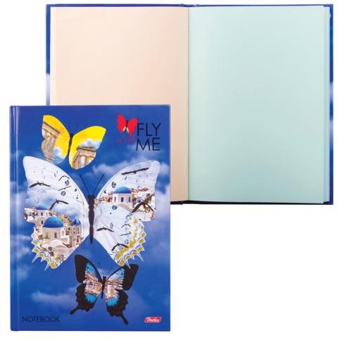 Блокнот 7БЦ, А5, 96 л., обложка ламинированная, тонированный блок, HATBER, «Путешествие»
