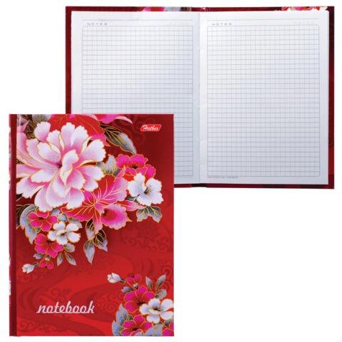 Блокнот 7БЦ, А6, 80 л., обложка ламинированная, HATBER, «Цветы»