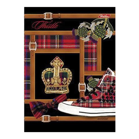 """Блокнот 7БЦ, А6, 80 л., обложка ламинированная, HATBER, """"Шотландия"""", 80ББ6B1 12938"""