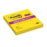 Блок самоклеящийся (стикер) POST-IT Super Sticky, 76×76 мм, 90 л., неоновый желтый