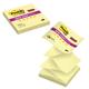 Блок самоклеящийся (стикер) POST-IT Super Sticky (Z-блок), 76×76 мм, 90 л., желтый