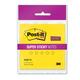 Блок самоклеящийся (стикер) POST-IT Super Sticky, 76×76 мм, 45 л., неоновый желтый