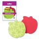 Блоки самоклеящиеся (стикеры) POST-IT Super Sticky, комплект 2 шт., «Яблоко», 76×76 мм, 75 л., красные/<wbr/>зеленые