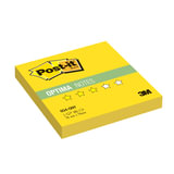 Блок самоклеящиеся (стикер) POST-IT Optima «Лето», 76×76 мм, 100 л., желтый неон
