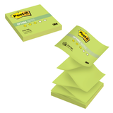 Блок самоклеящиеся (стикер) POST-IT Optima «Весна» (Z-блок), 76×76 мм, 100 л., зеленый неон